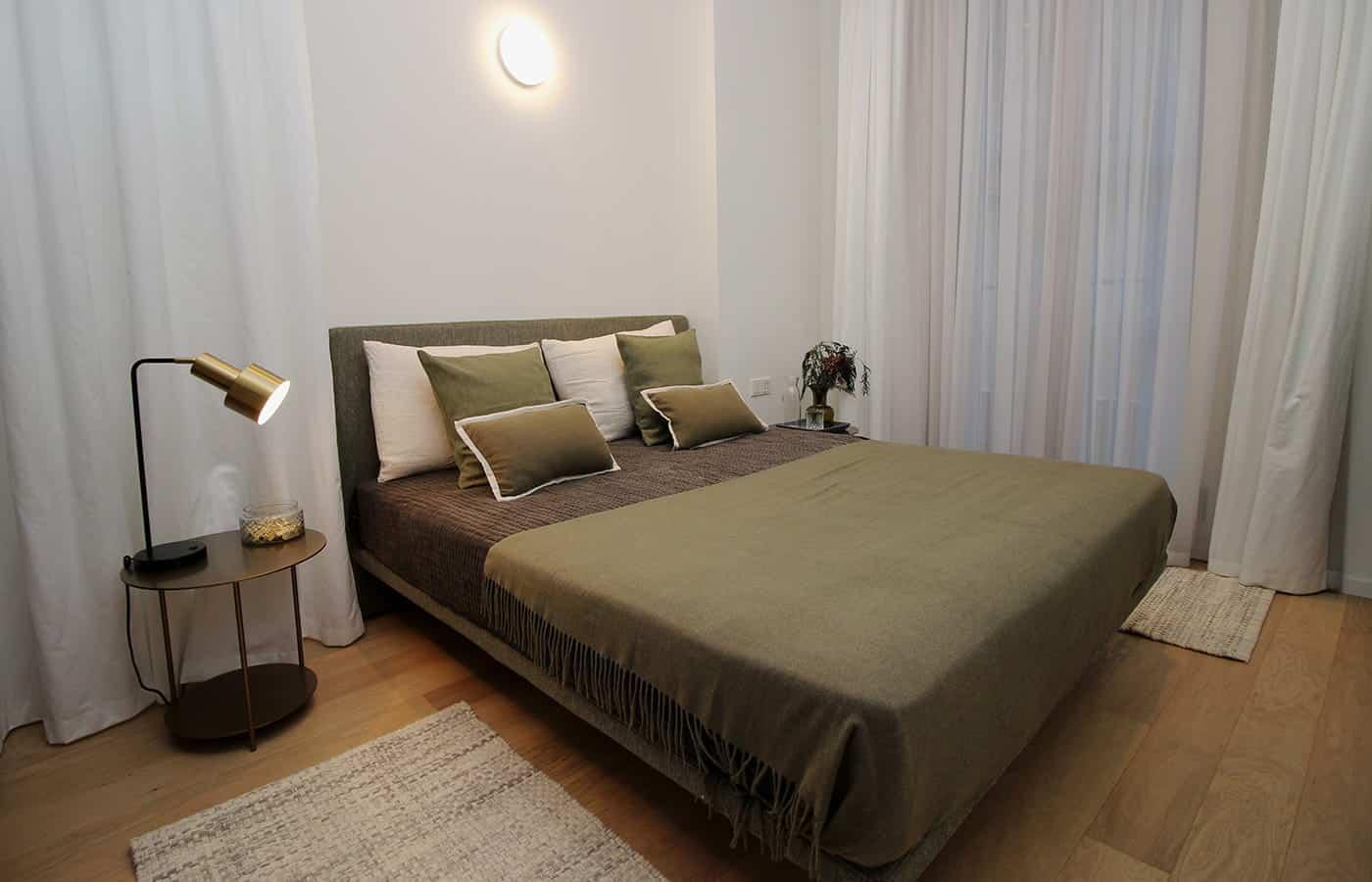 Camera da letto verde - Progetto Via Santo Spirito Milano - Il Mobile