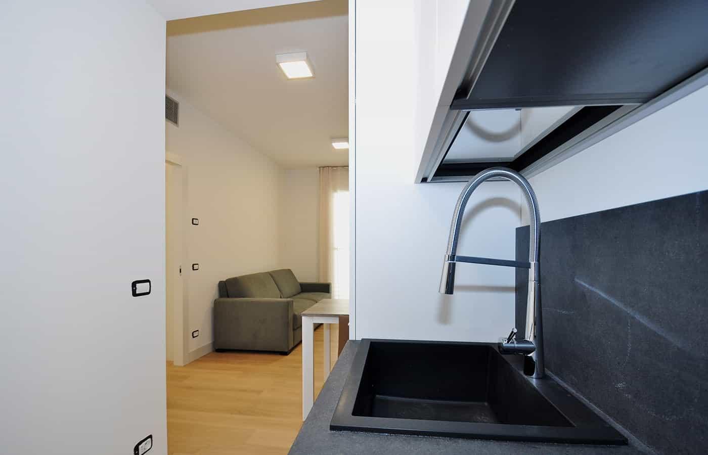 Lavandino Cucina - Progetto Via della Moscova Milano - Il Mobile
