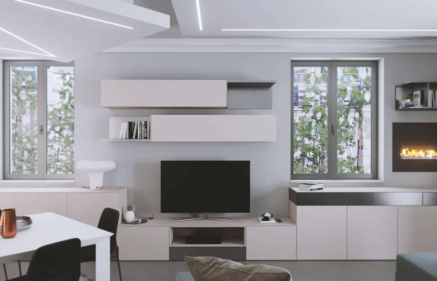Madia Zona Giorno - Progetto Via Adamello Lomazzo - Il Mobile