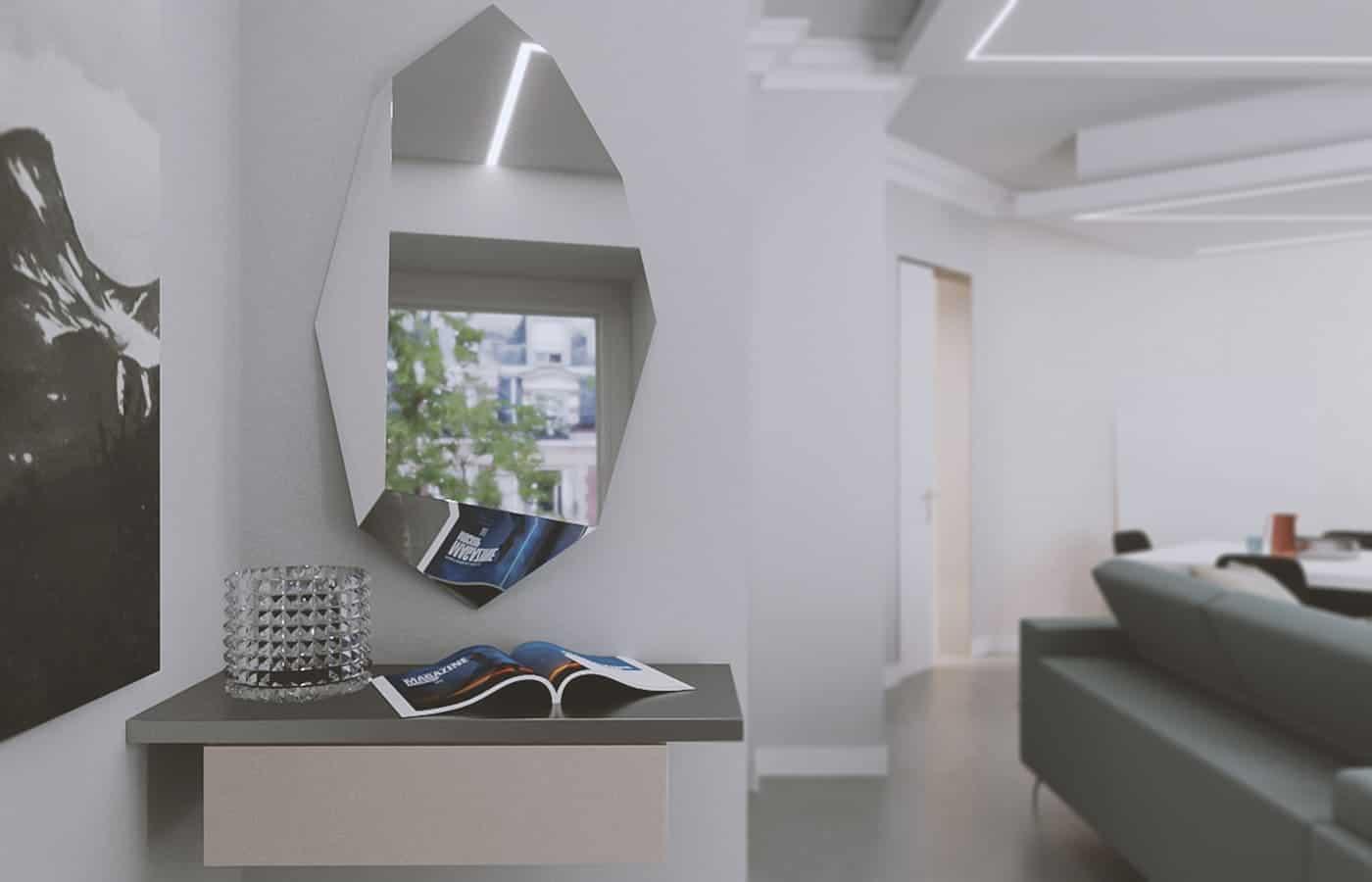 Specchio Entrata - Progetto Via Adamello Lomazzo - Il Mobile
