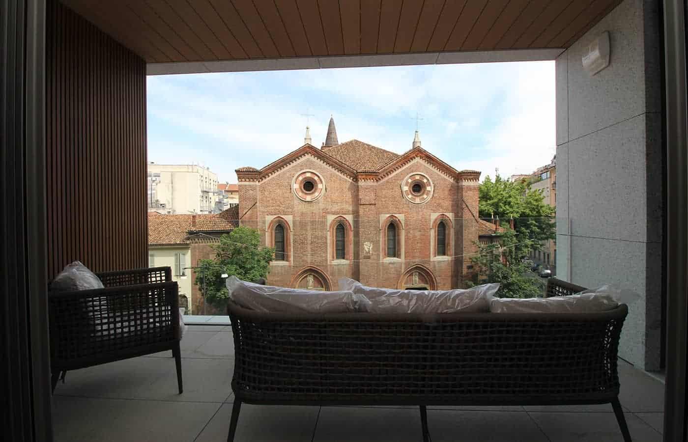 Vista Terrazzo - Progetto Corso Garibaldi Milano - Il Mobile