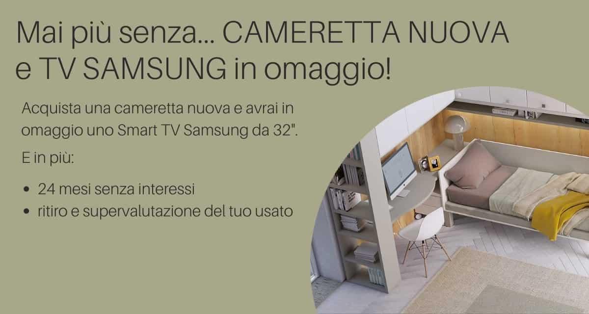 Promozione Camerette - TV Samsung in omaggio